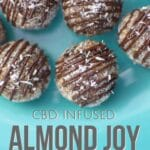 Almond Joy Energy Bites with CBD by Emily Kyle Nutrition