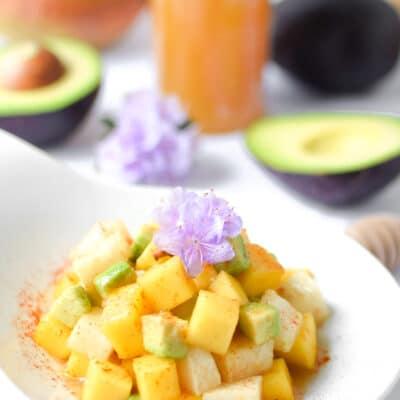 Mango Jicama Prebiotic Salad (Vegan, Paleo)