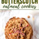 Cannabis Butterscotch Oatmeal Cookies
