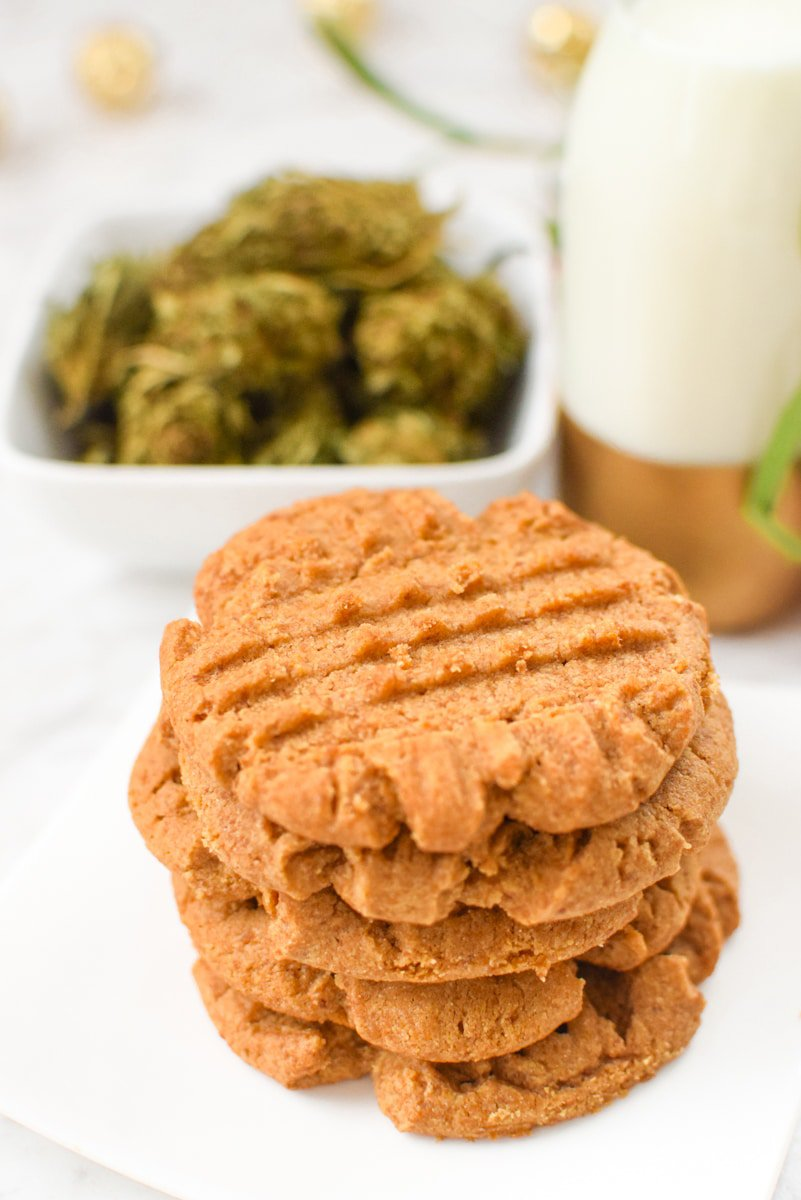 Cannabis Peanut Butter Cookies by Emily Kyle Nutrition
