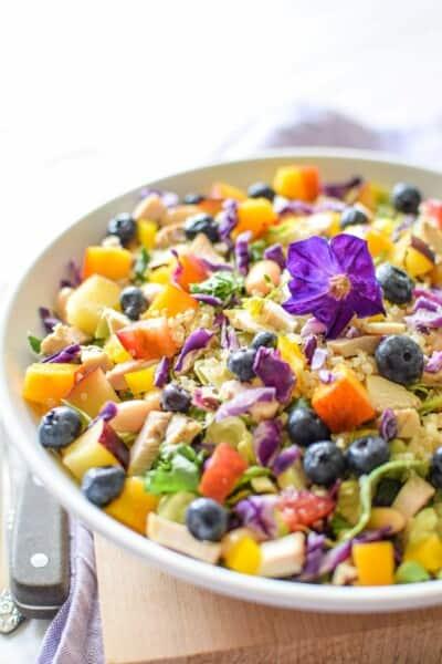 Rainbow Chicken Salad