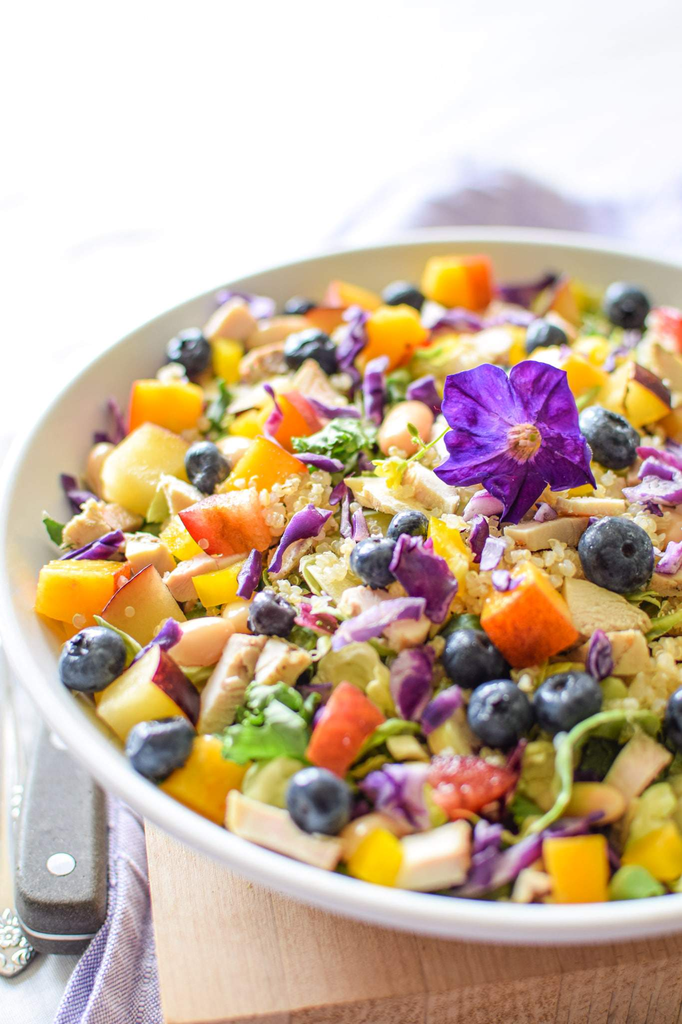 Rainbow Chicken Salad