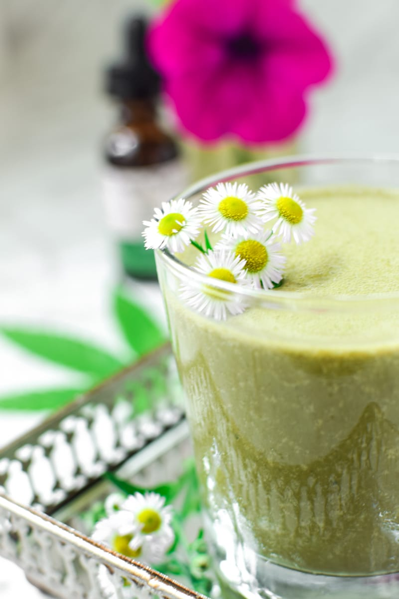 Mint Chocolate Cannabis Smoothie