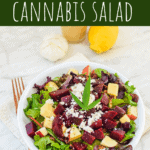 Beet & Walnut Cannabis Leaf Salad with Citrus Vinaigrette