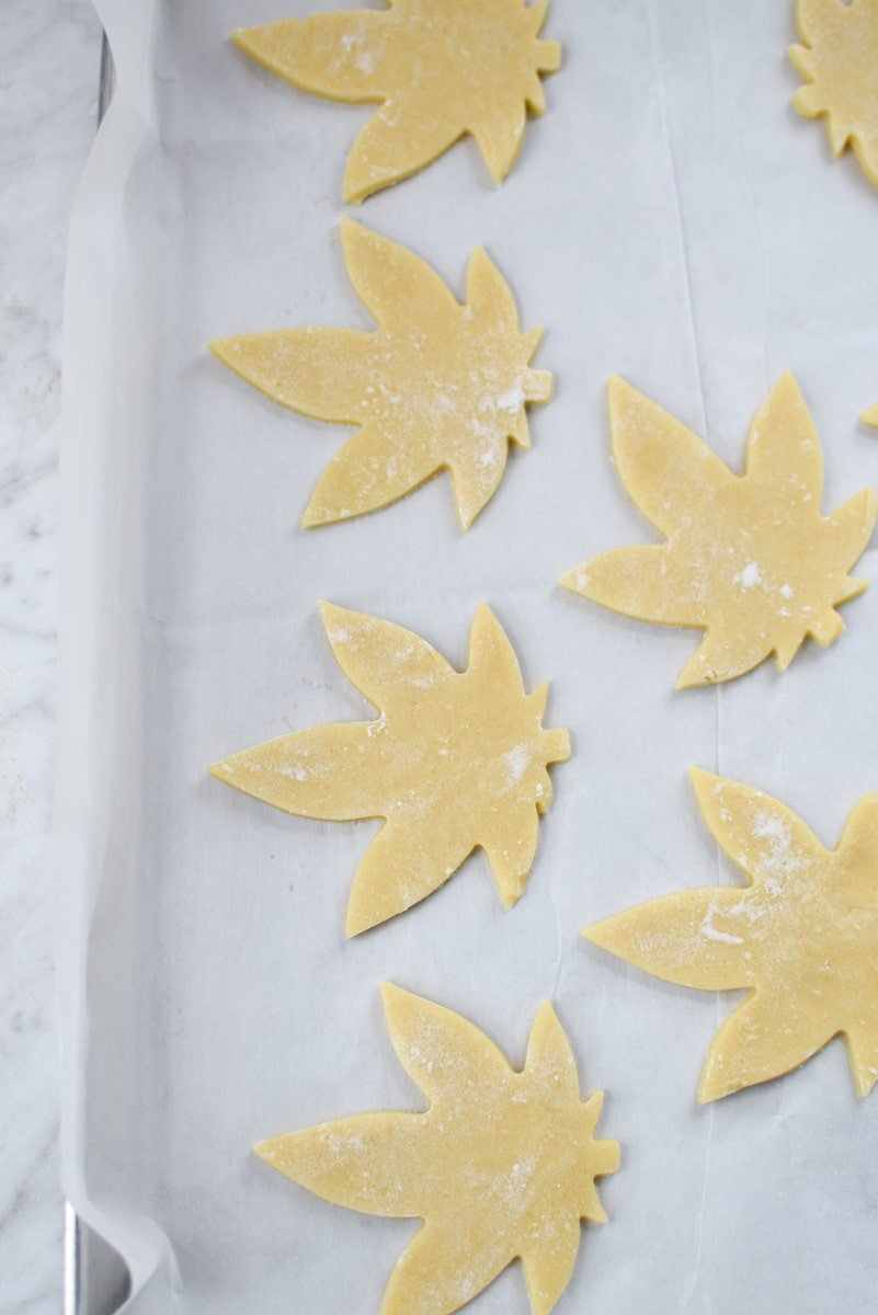 Cut-Out Cannabis Sugar Cookies