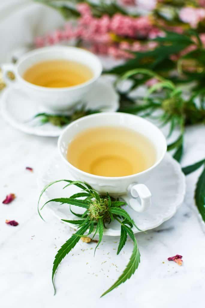 Cannabis Tea Steeping