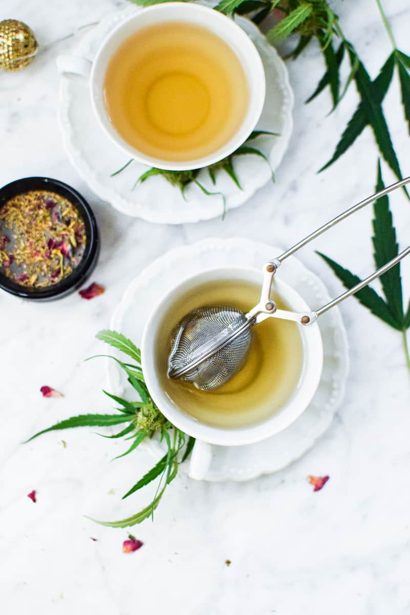 Cannabis Tea with Cannabis Pulp