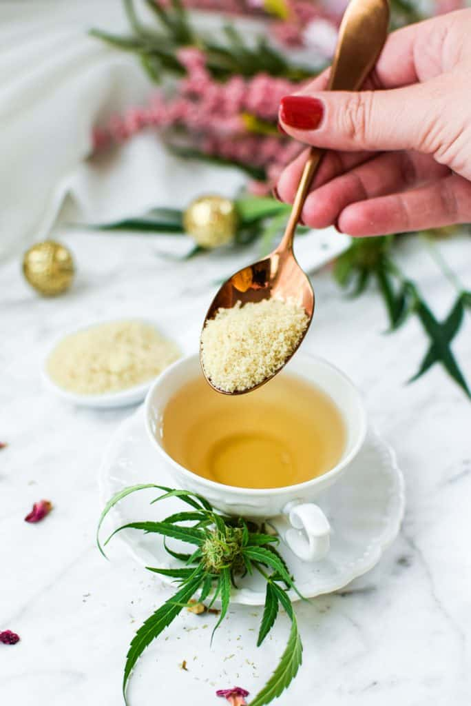 Cannabis Tea Made with CannaSugar